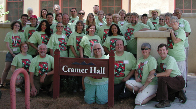 Summer Teacher Institute 2012 participants in front of Cramer Hall